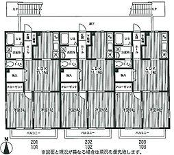 メゾンセラフィム[1階]の間取り