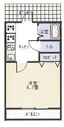リブハピネス横浜V[2階]の間取り