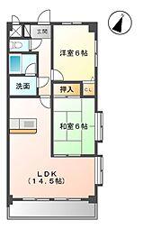 愛知県清須市西枇杷島町旭1丁目の賃貸マンションの間取り