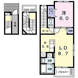 グローブ A[3階]の間取り
