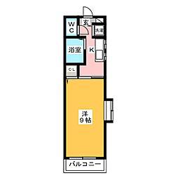ブティア・ドゥ[4階]の間取り