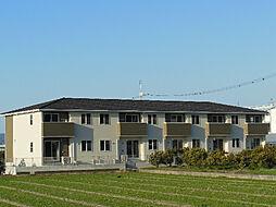 愛媛県伊予市八倉の賃貸アパートの外観