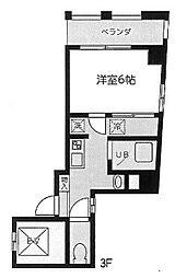 高村ハイツビル[3F号室]の間取り