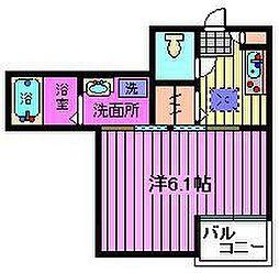 埼玉県川口市西青木2丁目の賃貸アパートの間取り