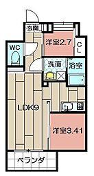 Studie TOBIHATA[306号室]の間取り