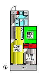 ジオン川口[3階]の間取り