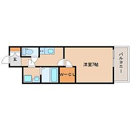 阪神本線 尼崎駅 徒歩6分の賃貸マンション 4階1Kの間取り