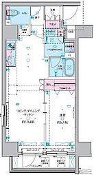 GENOVIA 東神田 green veil 3階1DKの間取り