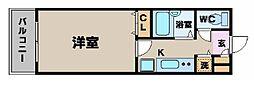 トーシンフェニックス新横濱イクシール[208号室]の間取り