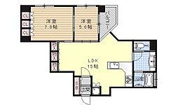 リーガル京都烏丸通り[705号室号室]の間取り