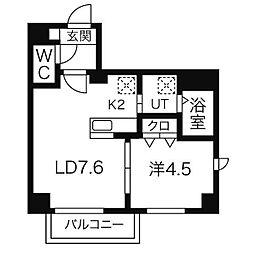 GARE89[303号室]の間取り