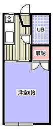 サンパレス成田A棟[202号室]の間取り