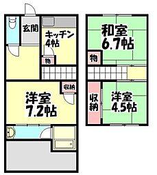 [テラスハウス] 大阪府和泉市伯太町2丁目 の賃貸【/】の間取り
