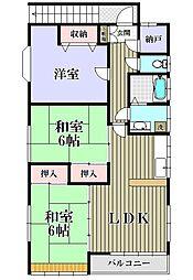 アイエムハウス[2階号室]の間取り