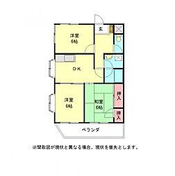 愛知県小牧市常普請3丁目の賃貸マンションの間取り
