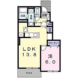 福岡県北九州市八幡西区御開3の賃貸アパートの間取り
