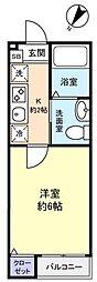 シンクエンタ船橋[2階]の間取り