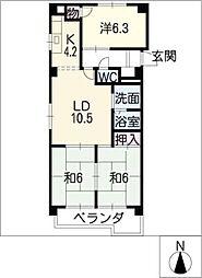 第7サワータウン[7階]の間取り