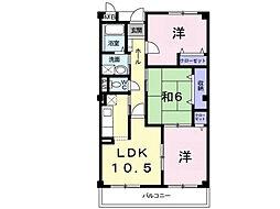 茨城県つくば市春日2丁目の賃貸マンションの間取り