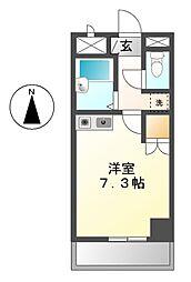 愛知県名古屋市港区津金2丁目の賃貸マンションの間取り