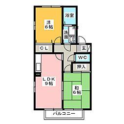 ガーデンムジュー[2階]の間取り