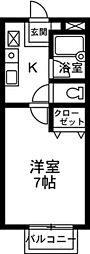 メゾン町田[201号室]の間取り