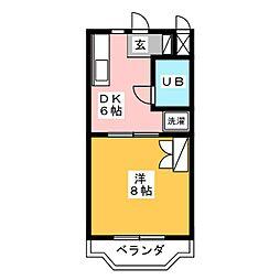 アメニティーベル[3階]の間取り