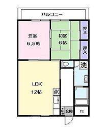 和田マンション[403号室]の間取り