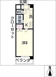 リヴェール印場[4階]の間取り