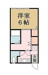 ガーデンハイム谷塚[202号室]の間取り