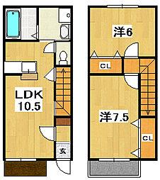 [テラスハウス] 茨城県日立市鮎川町6丁目 の賃貸【/】の間取り