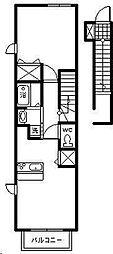 ナリッシュ B[2階]の間取り