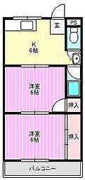 エスポワール上神田[4階]の間取り
