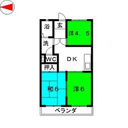 マルヤスハイツ[2階]の間取り