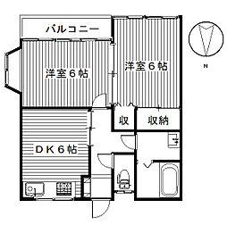 五番街A[2階]の間取り