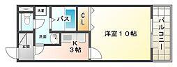大阪府大阪市平野区平野西3丁目の賃貸アパートの間取り