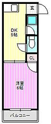 コーポタカハシA[2階]の間取り