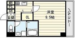 ディオーネジエータ長堂[8階]の間取り