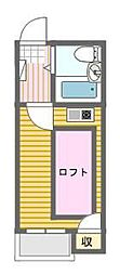 シャンクレール日本橋[6階]の間取り