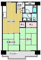 UR南港わかぎの団地[41-205号室]の間取り