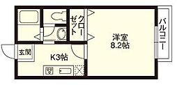 ロイヤル京田辺B[1階]の間取り