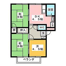 フレグランス緑ヶ丘 C[2階]の間取り