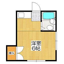 円山コーポ[101号室]の間取り