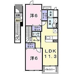 埼玉県春日部市梅田2丁目の賃貸アパートの間取り