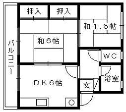 サイトウアパート[102号室]の間取り