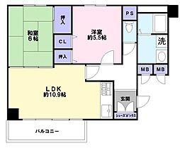 兵庫県神戸市兵庫区荒田町1丁目の賃貸マンションの間取り