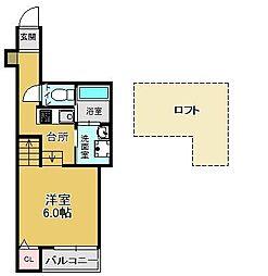 (仮)シャレオ井尻[2階]の間取り