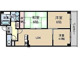 パークサイドマンション[2階]の間取り