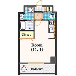 カーサリオ道頓[2階]の間取り