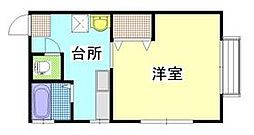 茨城県ひたちなか市はしかべ2丁目の賃貸アパートの間取り
